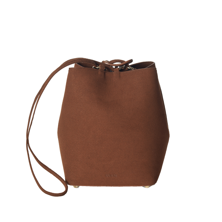 Brown Camille mini bucket bag