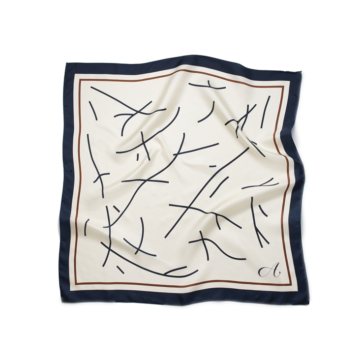 Drawing Square Silk Scarf [10.8 예약배송]