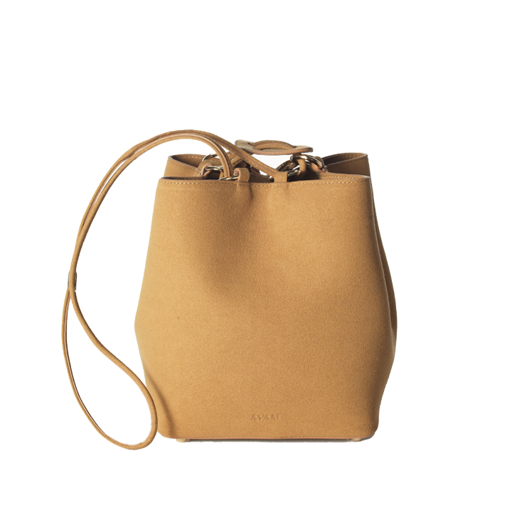 Beige Camille mini bucket bag