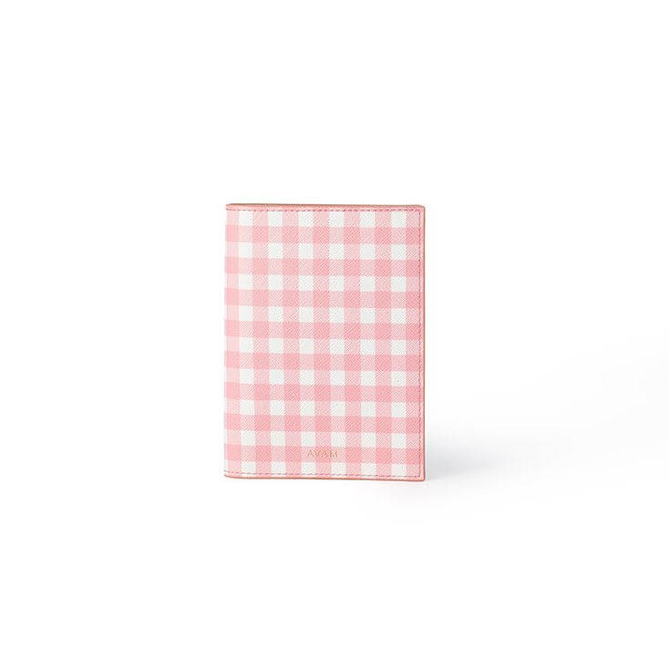 Gingham Passport Case (Pink)
