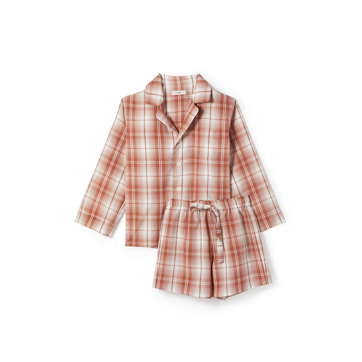 BonBon Check Pajama Shirt and Shorts