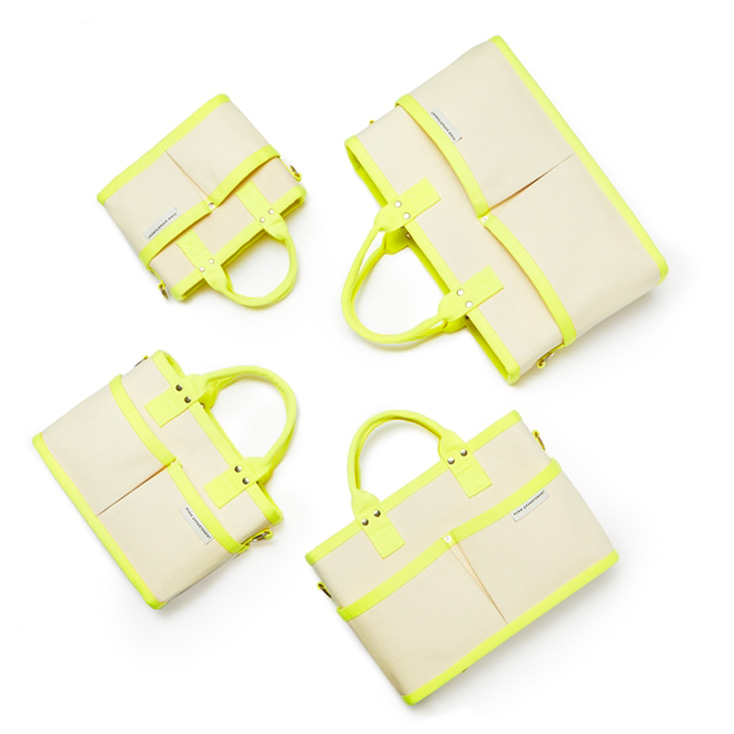 Neon Yellow Tumbler Bag